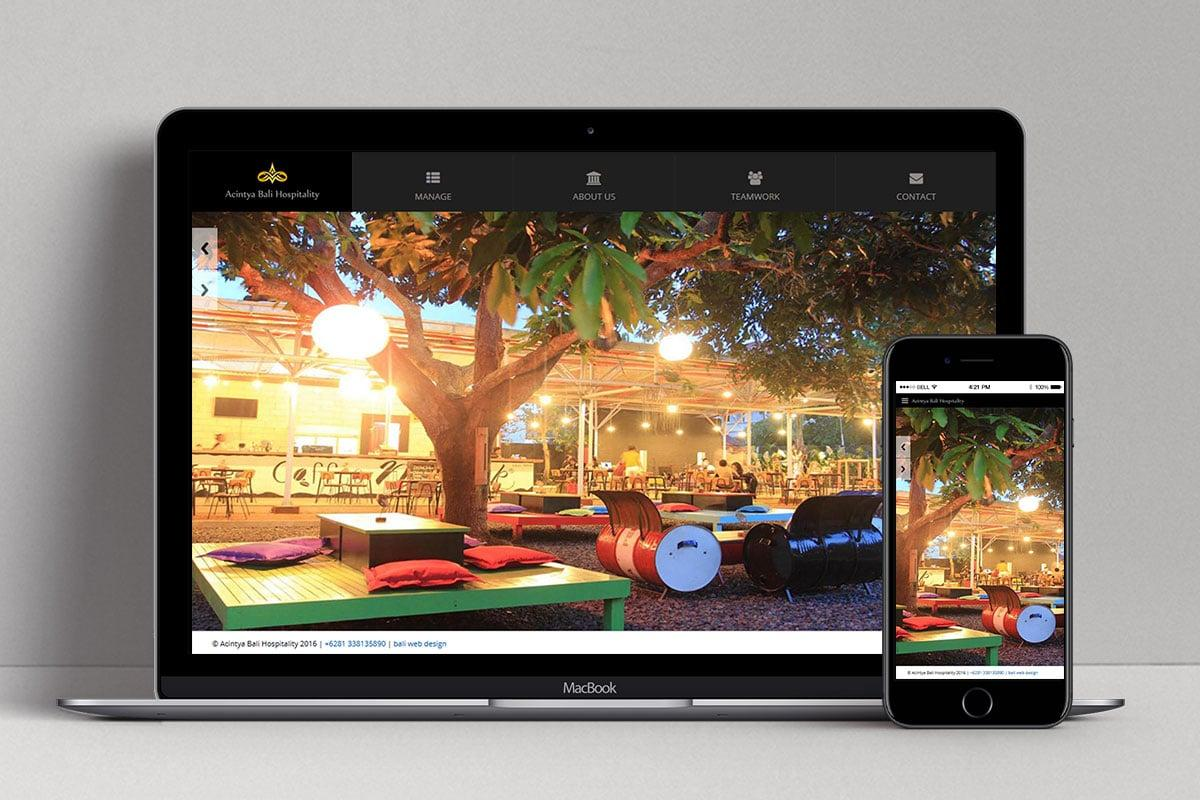 1 Achintya Hospitality Web Design Mocup
