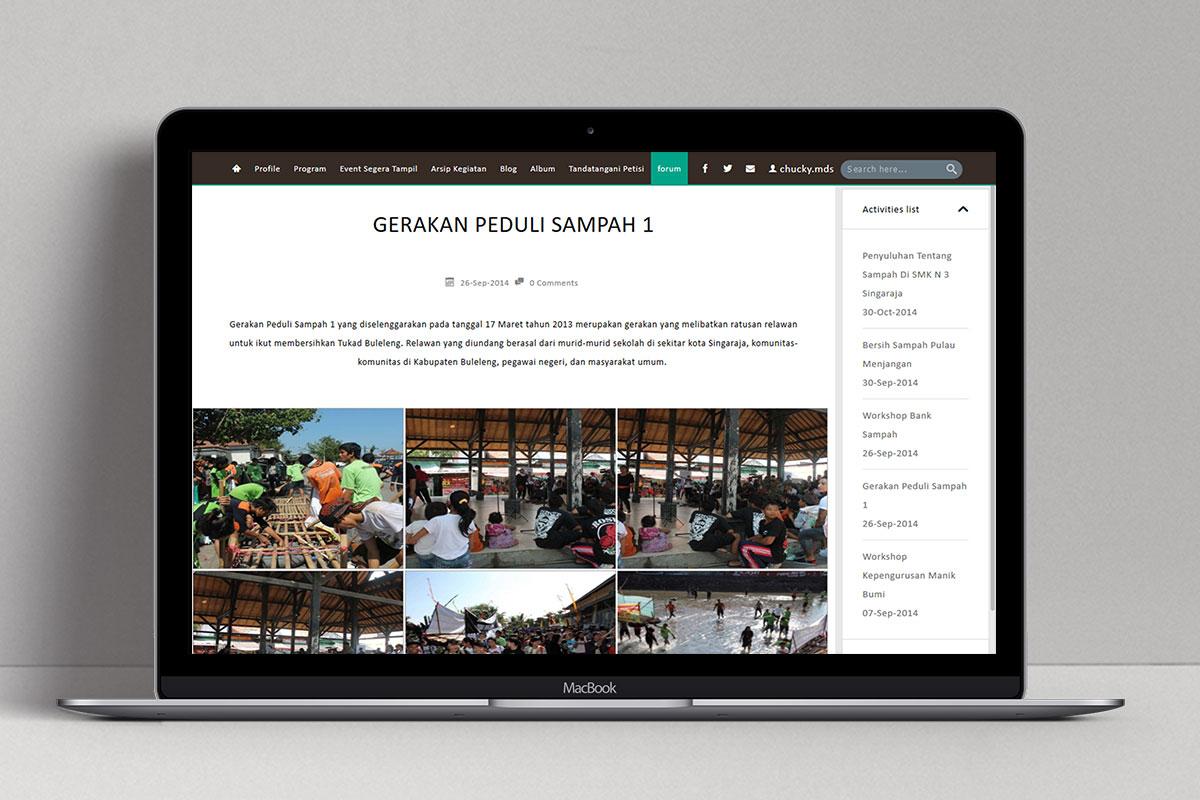 4 Manik Bumi Foundation Web Design Mocup