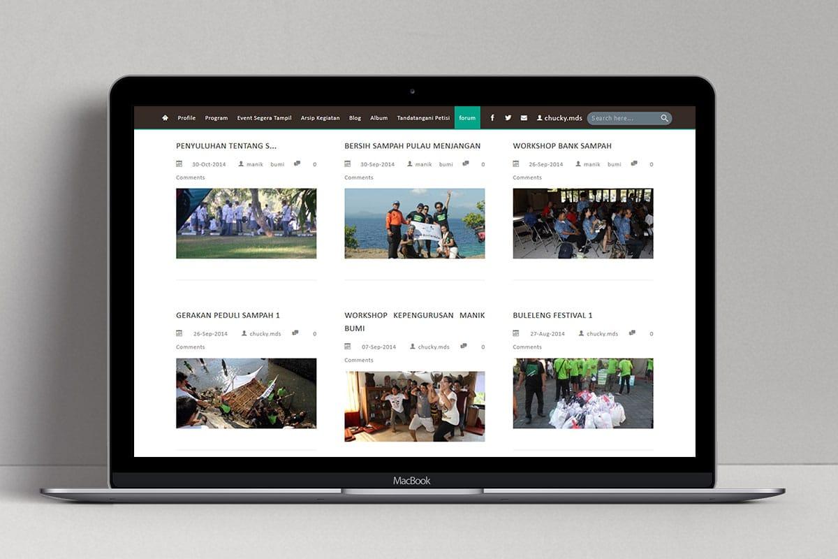 5 Manik Bumi Foundation Web Design Mocup