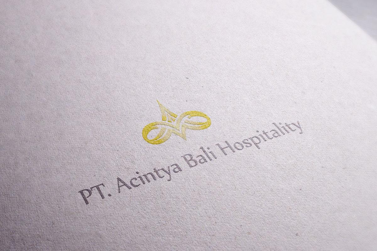 Achintya Hospitality Logo Mocup