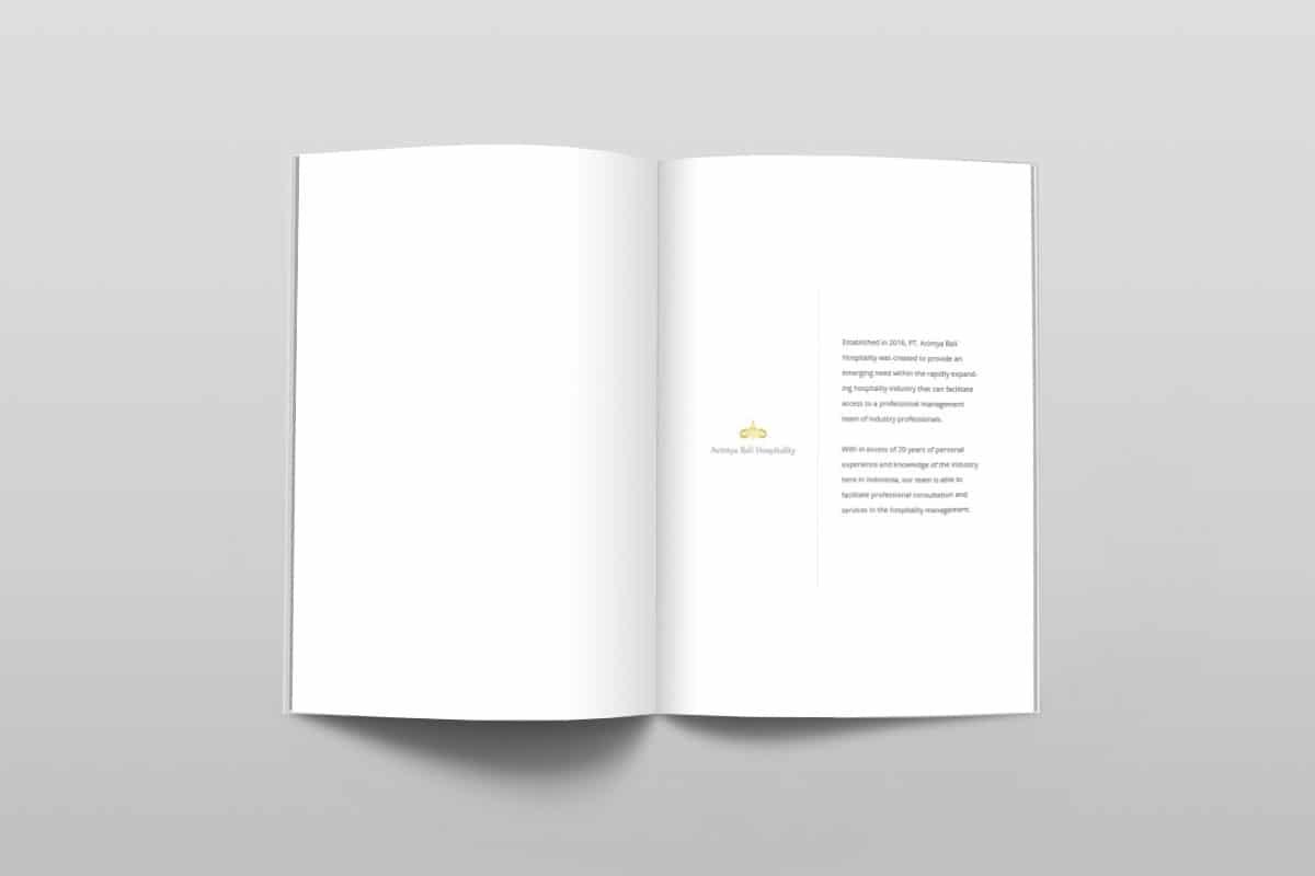 Acintya Hospitality Company Profile Page 2 3 Mocup