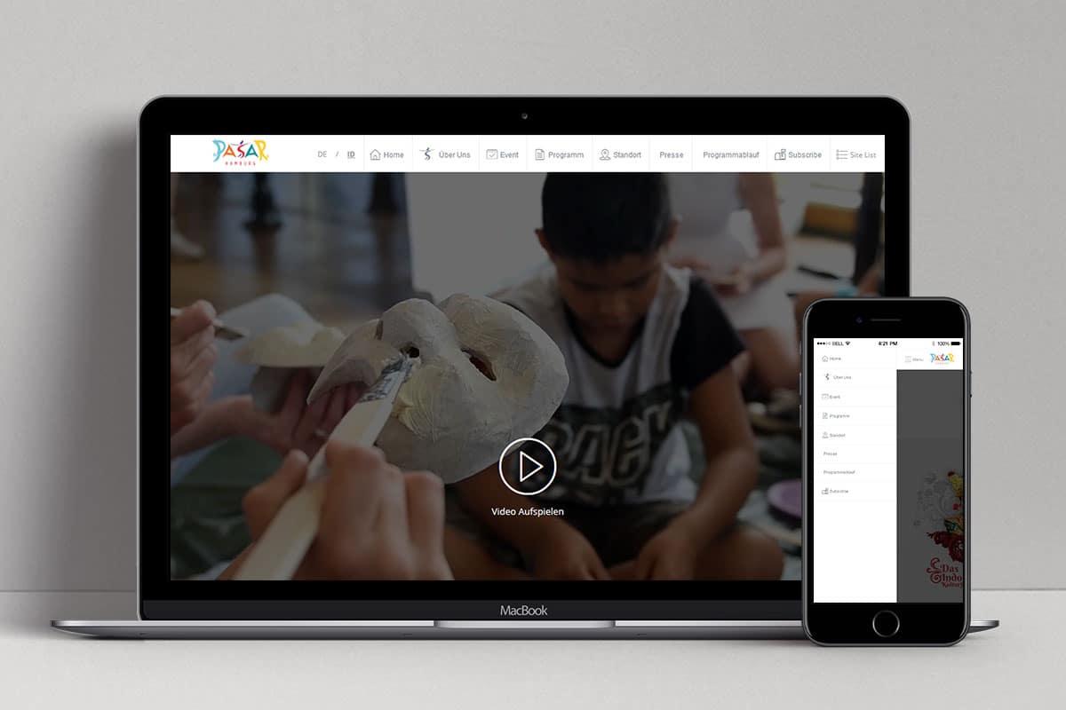 Pasar Hamburg 2017 Web Design Mocup