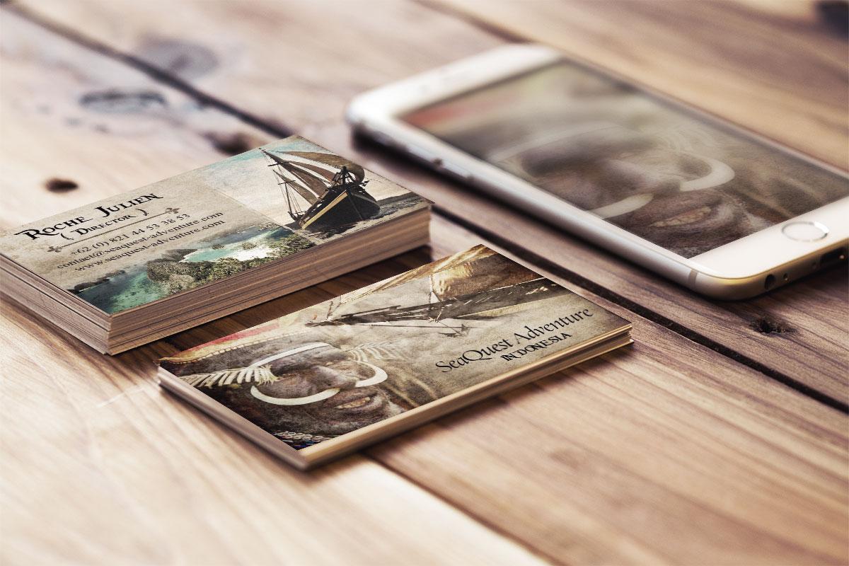Seaquest Adventure Business Card Mocup