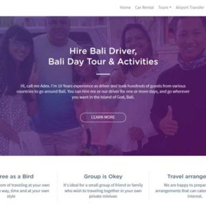 Bali Travel Partner Tour And Car Rental Web Design
