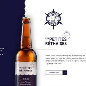 Beer Petites Rethaises Eccomerce Web Design