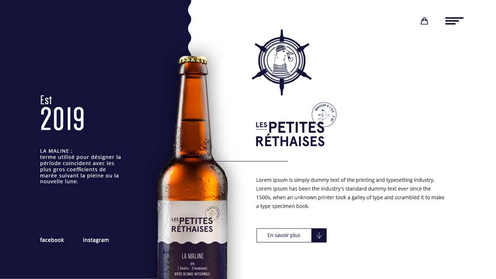 Beer Petites Rethaises Eccomerce Web Design - Website Toko Online / Ecommerce - Beer Petites Rethaises Eccomerce Web Design