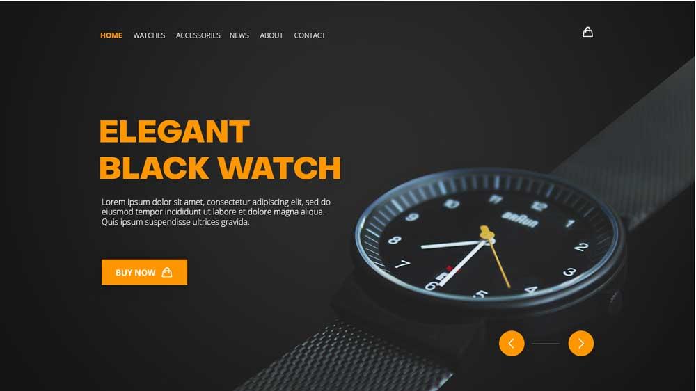 Black Watch Eccomerce Web Design - Website Toko Online / Ecommerce - Black Watch Eccomerce Web Design