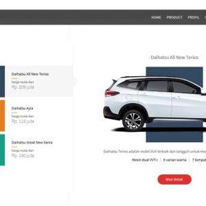 Daihatsu Dealer Company Profile Web Design