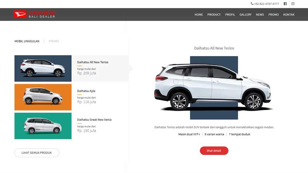 Daihatsu Dealer Company Profile Web Design - Website Profil Perusahaan - Daihatsu Dealer Company Profile Web Design