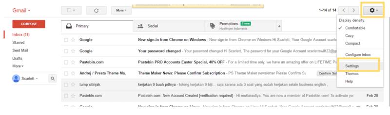 Cara menghubungkan Email pribadi ke Gmail