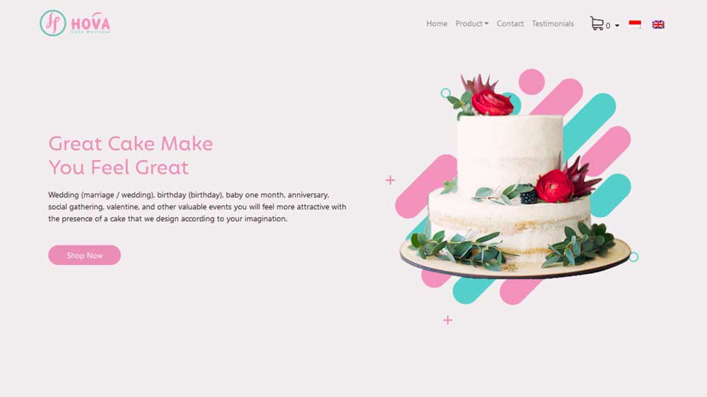 Hovacake Eccomerce Web Design - Website Toko Online / Ecommerce - Hovacake Eccomerce Web Design