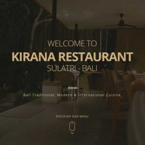Kirana Restaurant Website Restaurant