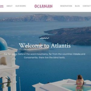 Oceanian Villas Hotel And Villas Web Design
