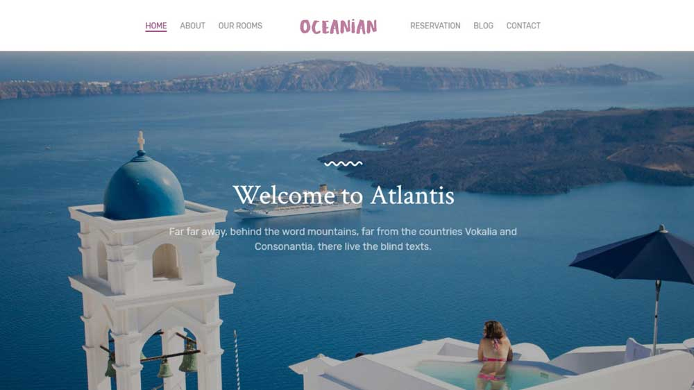 Oceanian Villas Hotel And Villas Web Design - Paket Website Hotel & Villa - Oceanian Villas Hotel And Villas Web Design