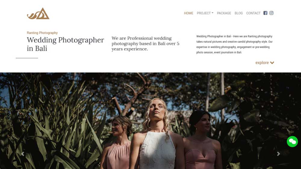 Ranting Photography Portfolio Web Design - Paket Website Portfolio - Ranting Photography Portfolio Web Design