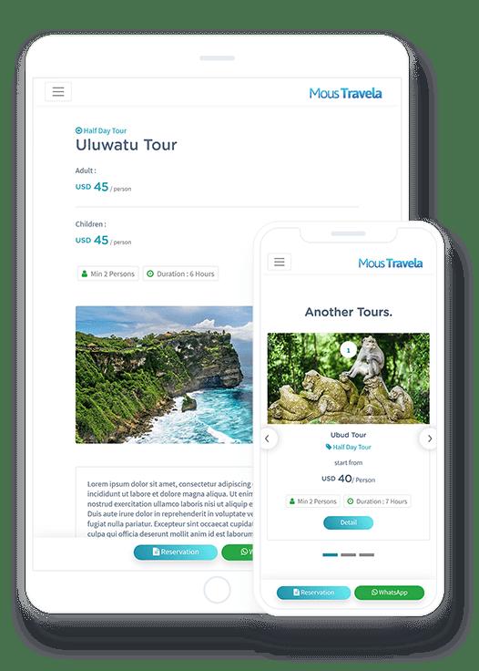 Responsive Design Website Tour And Travel Murah Di Bali Mocup