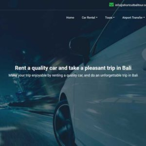 Shortcut Bali Tour And Car Rental Web Design