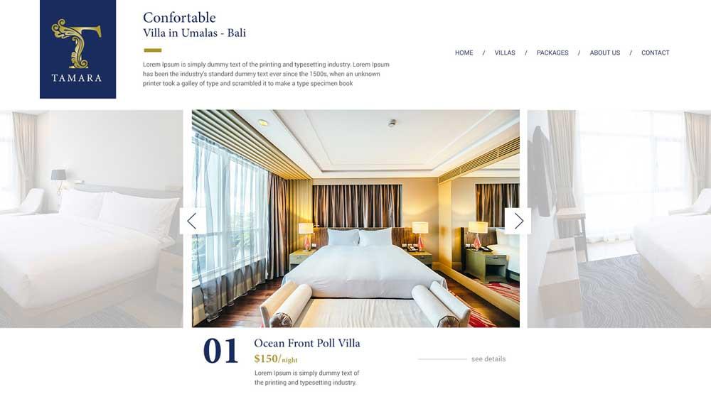 Tamara Villas Hotel And Villas Web Design - Paket Website Hotel & Villa - Tamara Villas Hotel And Villas Web Design