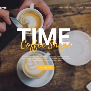 Time Coffee Restaurant Web Design