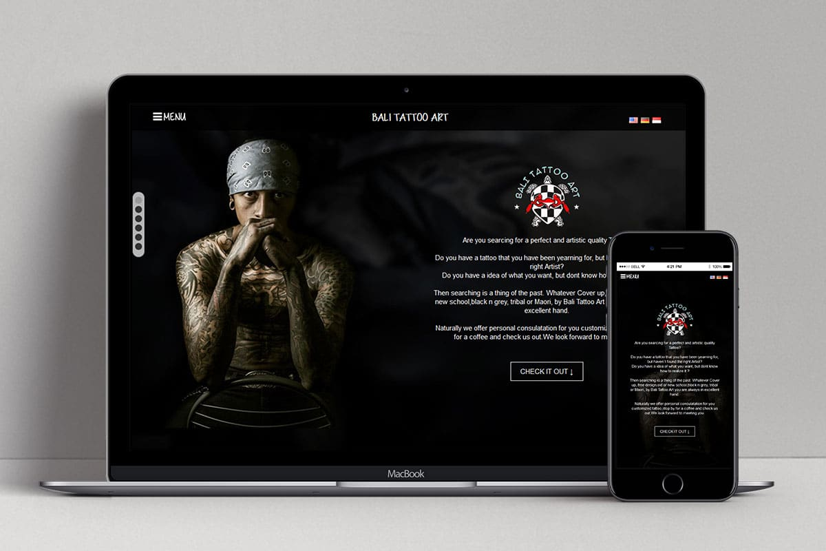 1 Bali Tattoo Art Web Design Mocup