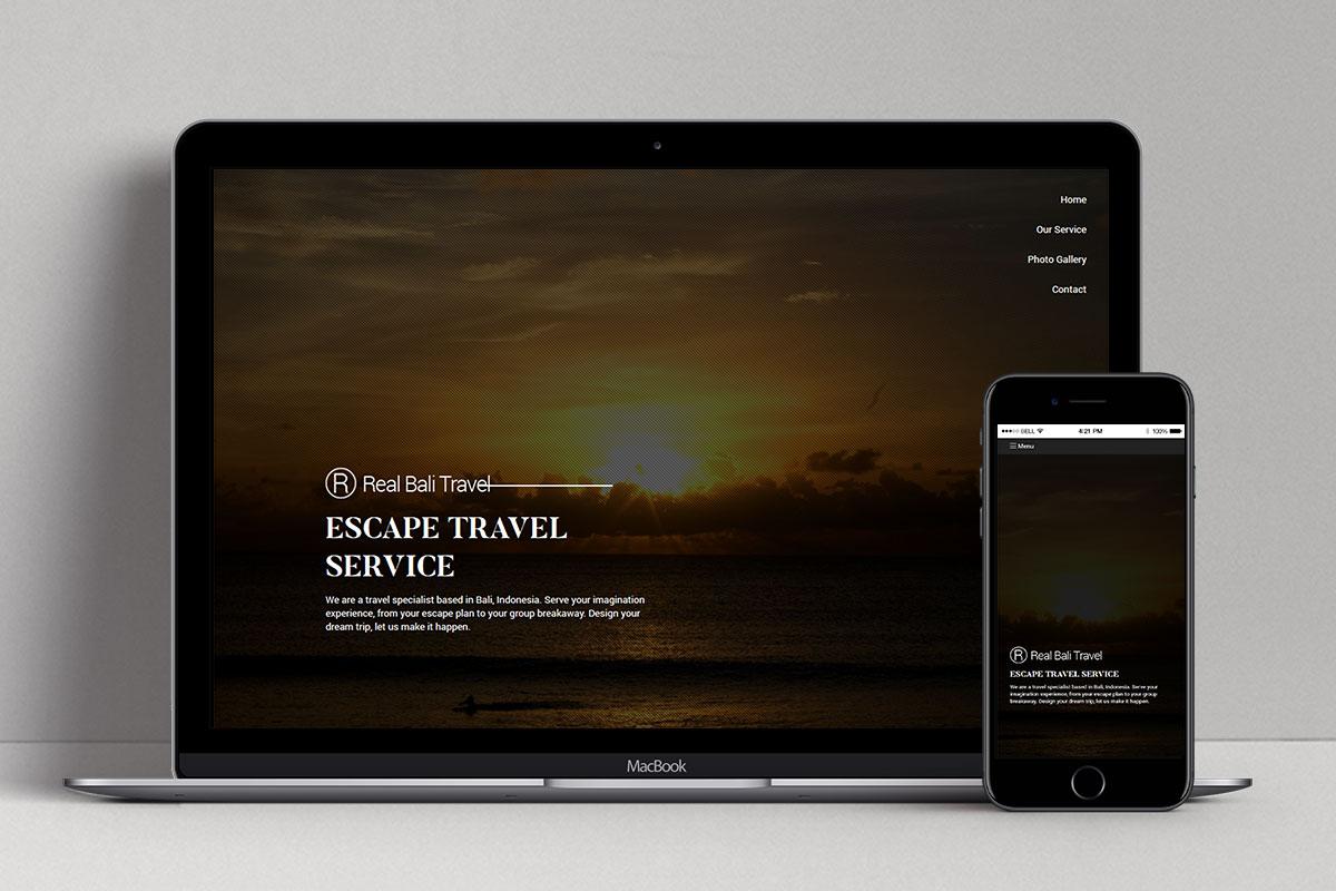 1 Real Bali Travel Web Design Mocup