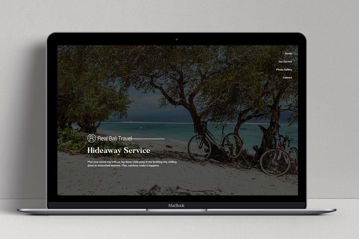 3 Real Bali Travel Web Design Mocup Service