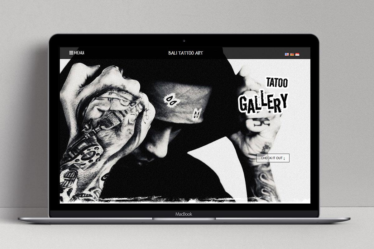 5 Bali Tattoo Art Web Design Mocup