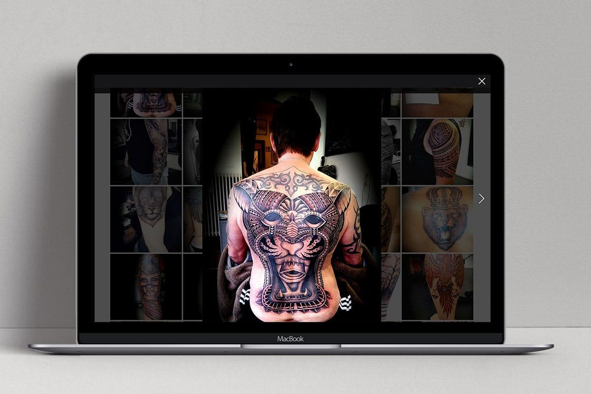 6 Bali Tattoo Art Web Design Mocup