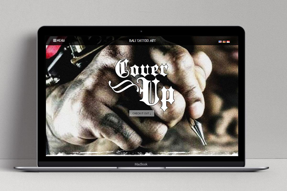 7 Bali Tattoo Art Web Design Mocup