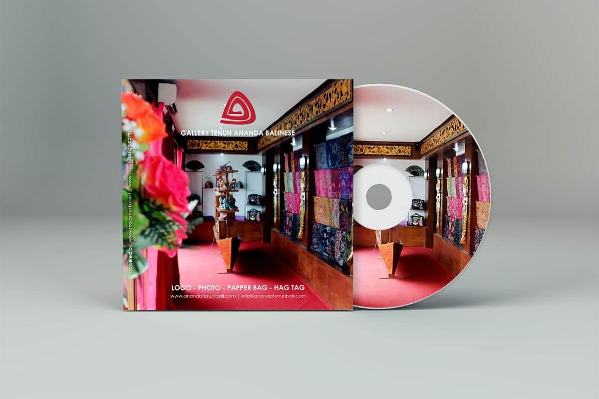 Ananda Tenun Bali Gallery Label Cd Mocup