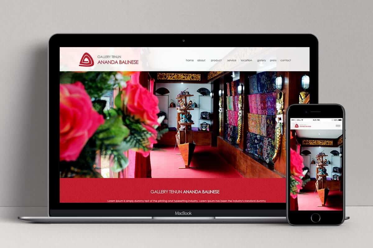 Ananda Tenun Gallery Web Design Bali