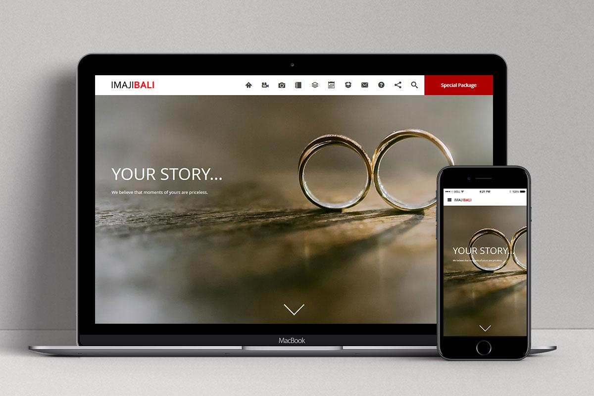 Imaji Bali Video And Photography Web Design Mocup Home