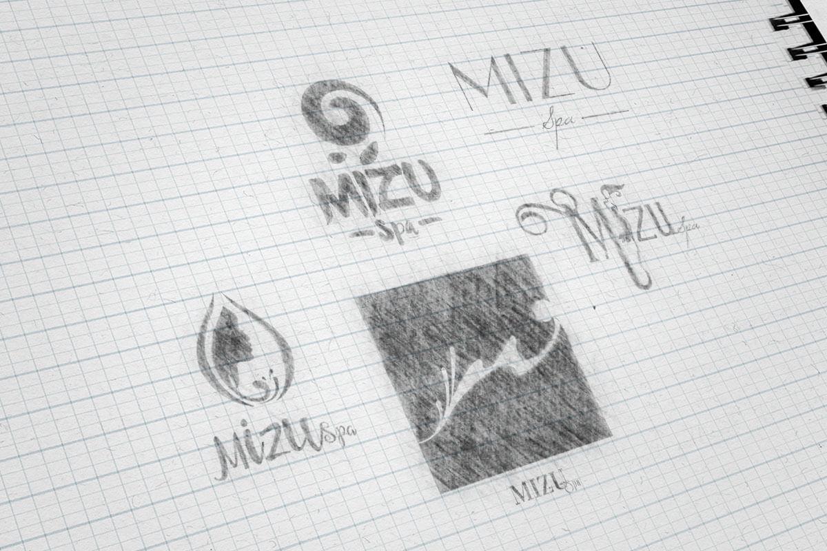 Mizu Bali Spa Logo Sketch