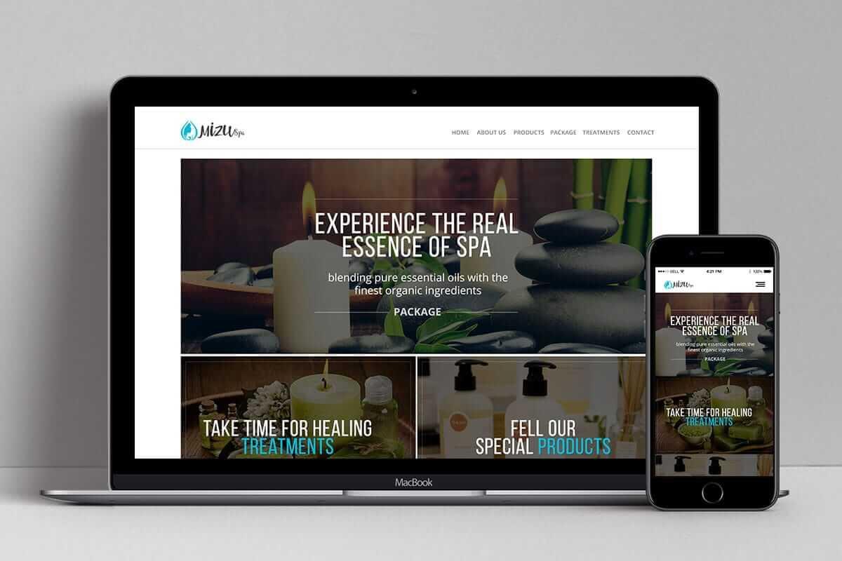 Mizu Spa Bali Web Design Bali