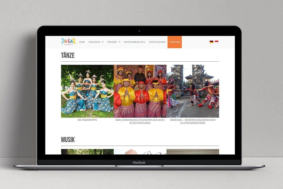 Pasar Hamburg 2016 Web Design Mocup 2