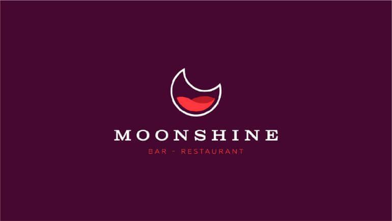 Moonshine Bar & Restaurant Oleh Sava Stoic- 10 Logo Restoran Terbaik