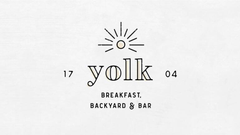 Yolk Breakfast Backyard & Bar Oleh Cara Bell- 10 Logo Restoran Terbaik
