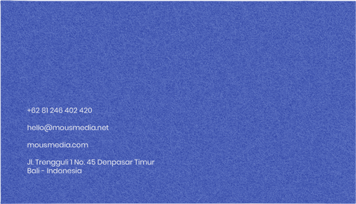 Graphic Design Dan Branding Card Blue